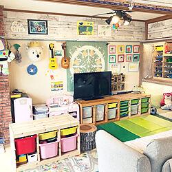 おもちゃ収納/IKEA/賃貸/子供部屋/セリア...などのインテリア実例 - 2021-06-14 15:24:03