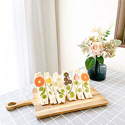 お花のある暮らし/フルーツサンド/IKEA/カッティングボード/Studio Clip...などのインテリア実例 - 2020-04-30 11:19:51