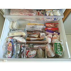 キッチン/整理収納部/整理整頓出来る人/つっぱり棒も好きだけど牛乳パックも好き♥/冷凍庫の中...などのインテリア実例 - 2014-08-02 14:10:50