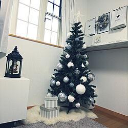 リビング/クリスマス/クリスマスツリー/塩系インテリアに憧れる/ダイソー...などのインテリア実例 - 2019-11-09 06:44:07