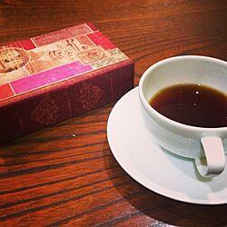 机/セリア/アンティーク風/Royal Copenhagen/コーヒーが似合ううつわ...などのインテリア実例 - 2013-10-31 21:14:11