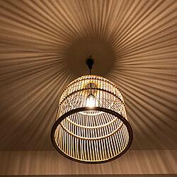 電球色/電球/サンフラワーラタン/ベッドルーム/寝室照明...などのインテリア実例 - 2021-02-11 22:33:57