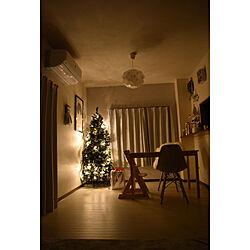 部屋全体/クリスマス/賃貸でも楽しく♪/クリスマス飾り付け/北欧雑貨...などのインテリア実例 - 2017-12-25 02:07:50