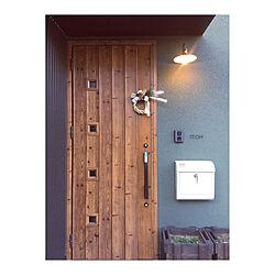 ブラケットライト/ポスト/玄関ドア/手づくり/リース...などのインテリア実例 - 2020-01-06 23:18:02