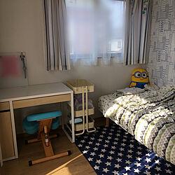 部屋全体/無印 脚付きマットレス/IKEA RASKOG/IKEA MICKE/子供部屋...などのインテリア実例 - 2018-04-20 07:59:13
