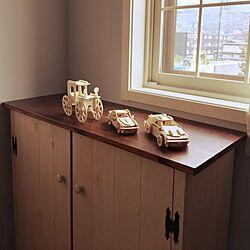 部屋全体/DIY収納棚/ブルー壁紙/息子部屋/二重窓...などのインテリア実例 - 2015-04-28 11:17:19