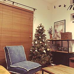 リビング/デニムソファ/セリア/niko and…/クリスマスツリー...などのインテリア実例 - 2018-12-11 19:21:53