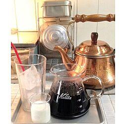 キッチン/DIYタイル/コーヒーポット/DIY/雑貨...などのインテリア実例 - 2013-09-21 08:28:16