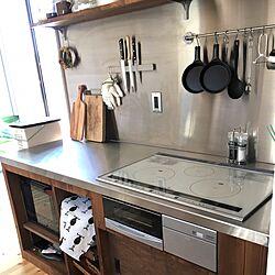 キッチン/スキレット/オーブンレンジ/造作棚/IKEA...などのインテリア実例 - 2017-06-01 00:06:55