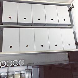 キッチン/ファイルボックス収納/ファイルボックス/ポリプロピレンファイルボックス/ふたりぐらし...などのインテリア実例 - 2019-01-16 20:11:56