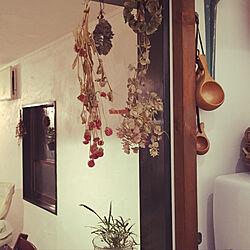 キッチン/ククサ/ククサカップ/観葉植物/ドライフラワーのインテリア実例 - 2018-08-01 23:22:28