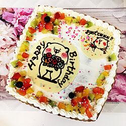 ともだちはくま/誕生日ケーキ/8/5誕生日/100均/スィーツタイム...などのインテリア実例 - 2020-08-08 14:13:55