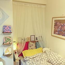 ベッド周り/IKEA/100均/salut!/照明...などのインテリア実例 - 2018-10-05 23:55:44