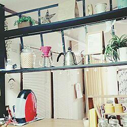 キッチン/ラブリコ ディアウォール DIY/LIVE IN THE ROUGH!/APRICOT WORKS/アイアン雑貨...などのインテリア実例 - 2017-01-10 22:26:11