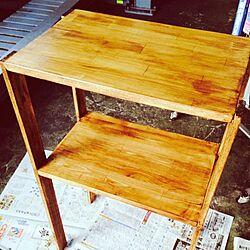 リビング/DIY 初めての棚作り/BRIWAXジャコビアンのインテリア実例 - 2014-01-11 21:39:55