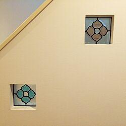 壁/天井/階段のかべ/ステンドグラスのインテリア実例 - 2014-06-23 15:41:31