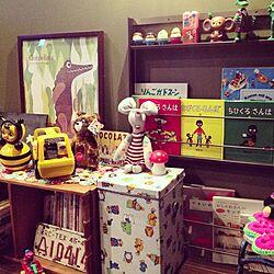 リビング/ミニミニ図書コーナー/雑貨/おもちゃ/昭和レトロ...などのインテリア実例 - 2014-09-23 17:48:17