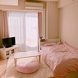 部屋全体/ベッド/ホワイト ピンク/アロマスティック/アロマキャンドル...などのインテリア実例 - 2018-03-11 15:19:45