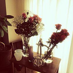 机/観葉植物/花瓶/フラワーベース/お花...などのインテリア実例 - 2013-12-18 00:11:43