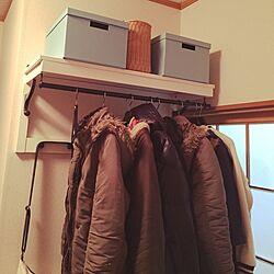 玄関/入り口/IKEA/コート掛け/収納/収納ボックス...などのインテリア実例 - 2016-03-05 22:16:36