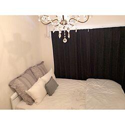 ベッド周り/ZARA HOME/シンプル/ホワイト/クッションカバー...などのインテリア実例 - 2017-07-19 15:05:28