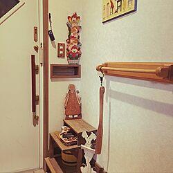 玄関/入り口/トールペイント/収納アイデア/ハンドメイド/雑貨...などのインテリア実例 - 2016-11-29 17:09:41