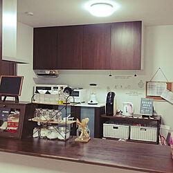 キッチン/セリアのウォールステッカー/ニトリの棚/ベルメゾン。のインテリア実例 - 2017-08-12 01:22:16