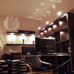 壁/天井/IKEA/ウォールシェルフ/照明/一人暮らしのインテリア実例 - 2014-03-18 15:22:25