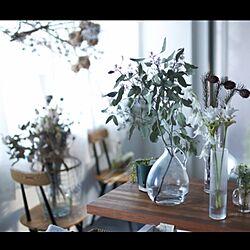 キッチン/花のある暮らし/クルクマ/デンファレ/ユーカリ...などのインテリア実例 - 2015-07-22 19:42:33