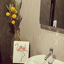 造花IKEA/フラワーベース ニトリ/ゴールド/フラワーべース/造花...などのインテリア実例 - 2021-07-14 21:26:21