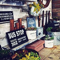 ニトリの車輪/工具/サビサビ/リメ缶/植物台DIY...などのインテリア実例 - 2019-04-27 07:12:30