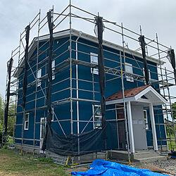 北欧/爬虫類/塗り壁/青い壁/外壁塗装...などのインテリア実例 - 2021-06-07 19:58:00