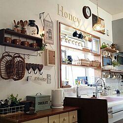 キッチン/窓枠/DIY/カフェ風/セリア...などのインテリア実例 - 2016-04-12 16:02:08