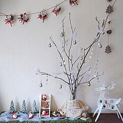 玄関/入り口/100均/ダイソー/セリア/クリスマス...などのインテリア実例 - 2018-12-15 14:49:50