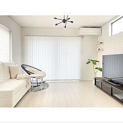 バーチカルブラインド/IKEA/モノトーン/シンプルインテリア/シンプルな暮らし...などのインテリア実例 - 2020-09-17 21:09:33