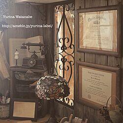 机/卒業証書/インスタID「YURINAW」/アトリエ小屋/DIYのインテリア実例 - 2015-04-03 22:43:08