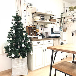 壁/天井/クリスマスツリー150cm/クリスマス/RCの皆さまに感謝♡/いつもいいねやコメント感謝です♩...などのインテリア実例 - 2018-12-08 10:51:42