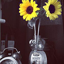 棚/ひまわり/1k 1人暮らし女性/一人暮らし/賃貸のインテリア実例 - 2015-07-31 07:36:47