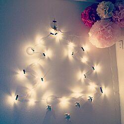 ベッド周り/壁アート/照明/デコレーションライト/デコレーション...などのインテリア実例 - 2014-12-07 20:57:39