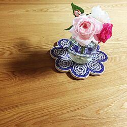 花のある生活/バラ/ダイニングテーブルのインテリア実例 - 2015-05-17 01:03:05