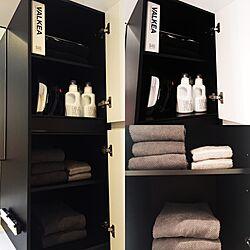 バス/トイレ/IG▶︎▶︎monochrome001/無印良品/IKEA/バスルーム...などのインテリア実例 - 2015-11-30 00:36:29