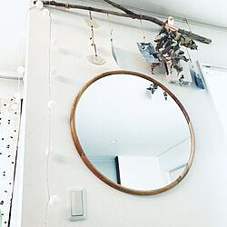 壁/天井/UO/ZARA HOME/ラウンドミラー/ミラー...などのインテリア実例 - 2018-04-07 22:18:10