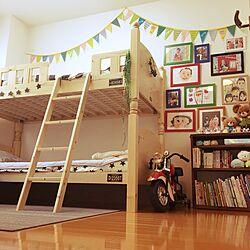ベッド周り/寝室/子ども部屋/2段ベッド/二段ベッド...などのインテリア実例 - 2017-06-16 15:26:57
