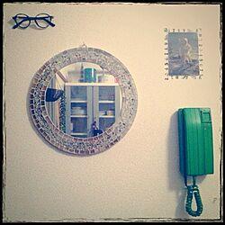 壁/天井/鏡/めがね/ポストカード/インターホン...などのインテリア実例 - 2013-09-04 00:12:52