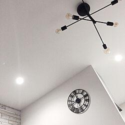 ホワイト&ブラック/アイアンブラック/照明/モノトーン/壁/天井のインテリア実例 - 2020-06-05 21:34:55