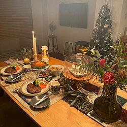 ニトリテーブルランナー/クリスマス/リノベーション/お花のある暮らし/ふたり暮らし...などのインテリア実例 - 2020-12-25 23:45:09