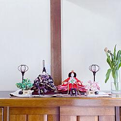 zenoさんの帯のテーブルランナー/チューリップ/季節を楽しむ/季節を愉しむ/季節を感じる暮らし...などのインテリア実例 - 2021-01-30 15:17:24
