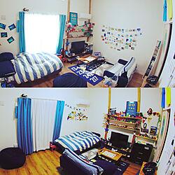部屋全体/IKEA/一人暮らし/男前インテリア/ディアウォール...などのインテリア実例 - 2017-11-12 23:27:09