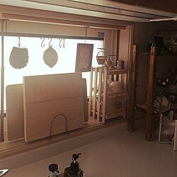 キッチン/台所/亀の子たわし/木のまな板/すのこ棚...などのインテリア実例 - 2015-12-19 08:47:33