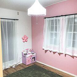 部屋全体/IKEA/ニトリのラグ/子供部屋女の子/子供部屋...などのインテリア実例 - 2017-04-15 14:25:40